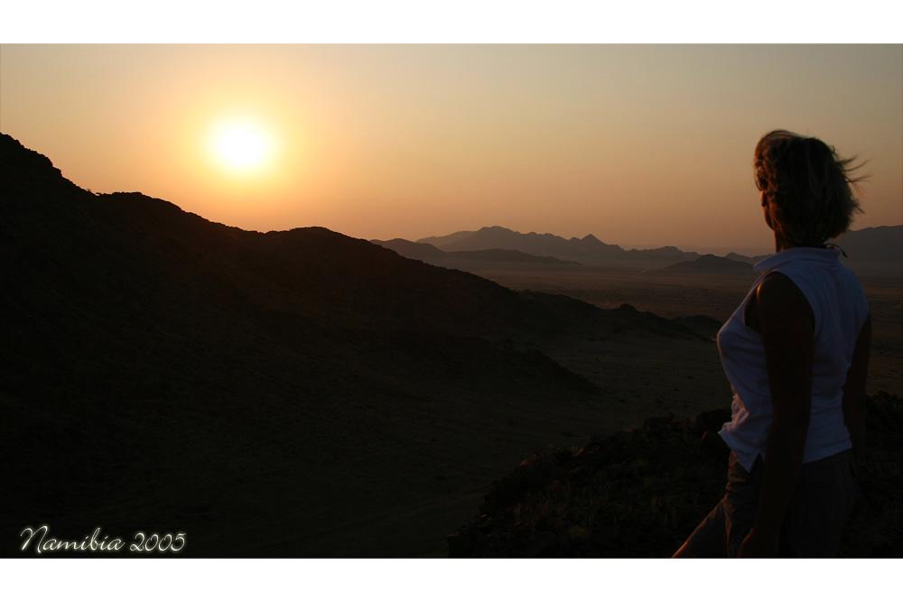 Sonnenuntergang an der Namib