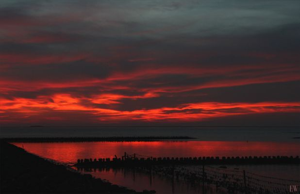 Sonnenuntergang an der Nordsee...