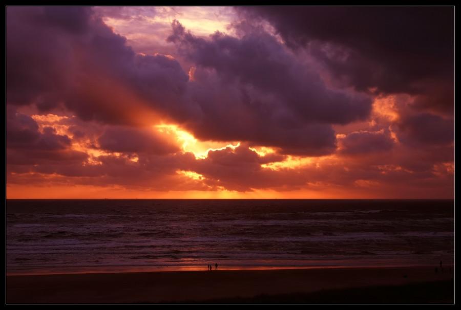 Sonnenuntergang an der Nordsee Egmond aan Zee NL