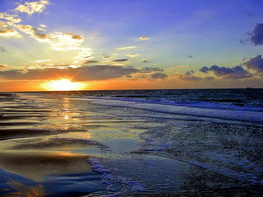 Sonnenuntergang an der Nordsee Renesse… Zeeland ( 02 )