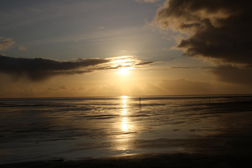 Sonnenuntergang an der Nordsee / Westerhever