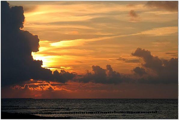 Sonnenuntergang an der Ostsee, bei Zingst