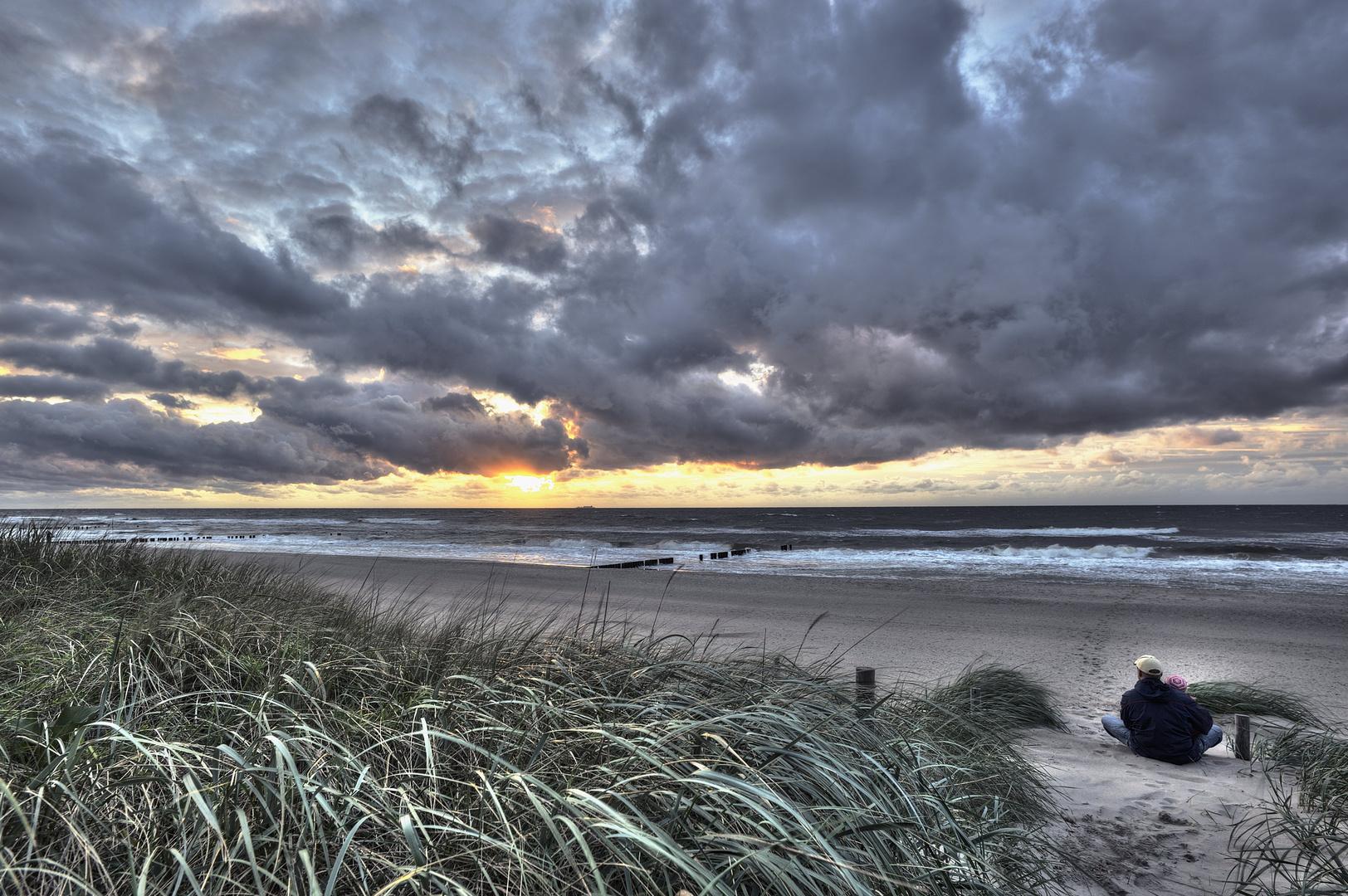 Sonnenuntergang an der Ostsee in der Rostocker Heide