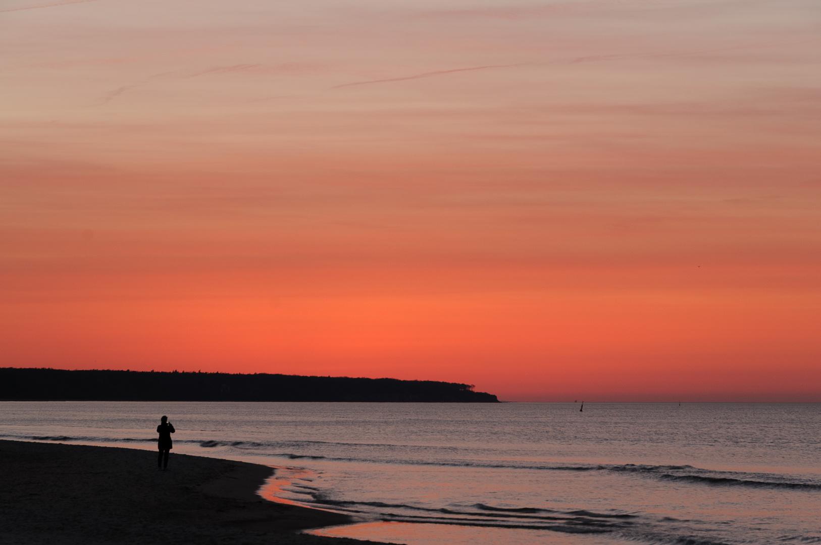 Sonnenuntergang an der Ostsee Warnemünde