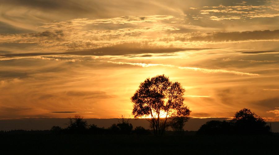 Sonnenuntergang an der schwäbischen Alb