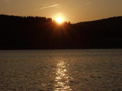 Sonnenuntergang an der Sorpe..