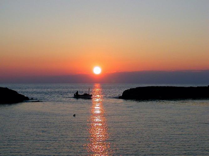 Sonnenuntergang an der türkischen Riviera