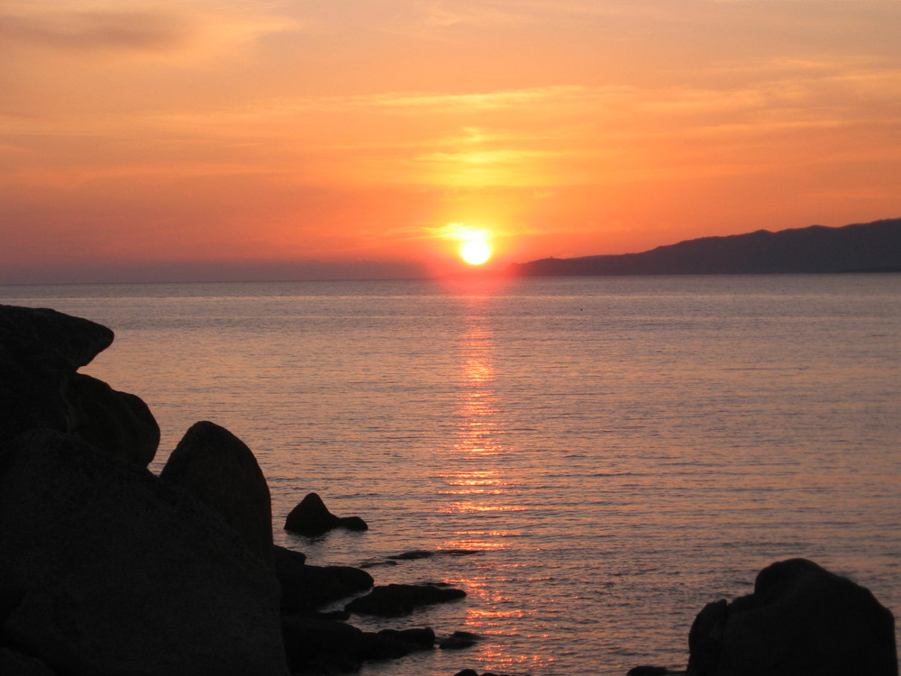 Sonnenuntergang an der Westküste Korsikas - Portigliolo
