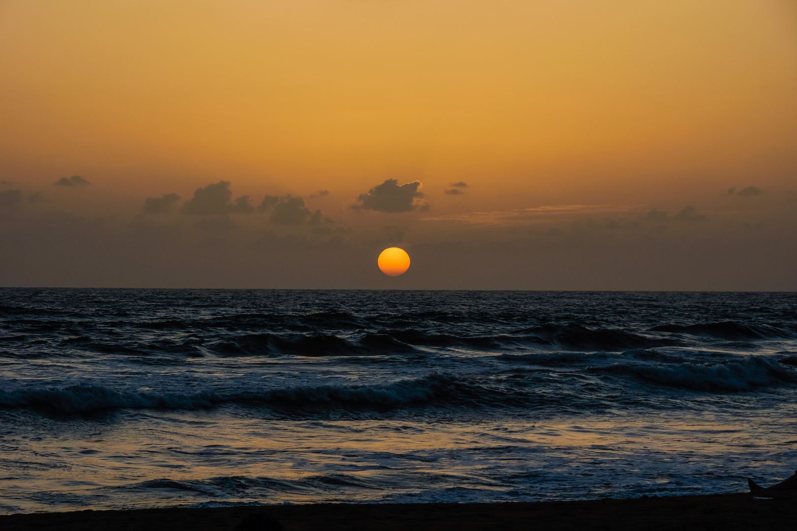 Sonnenuntergang an der Westküste von Sri Lanka