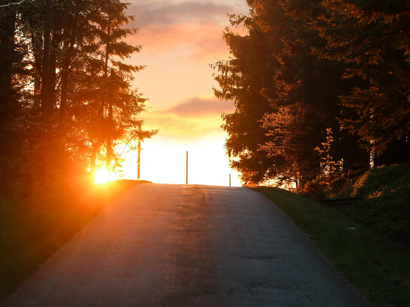 Sonnenuntergang an einem stillen Ort