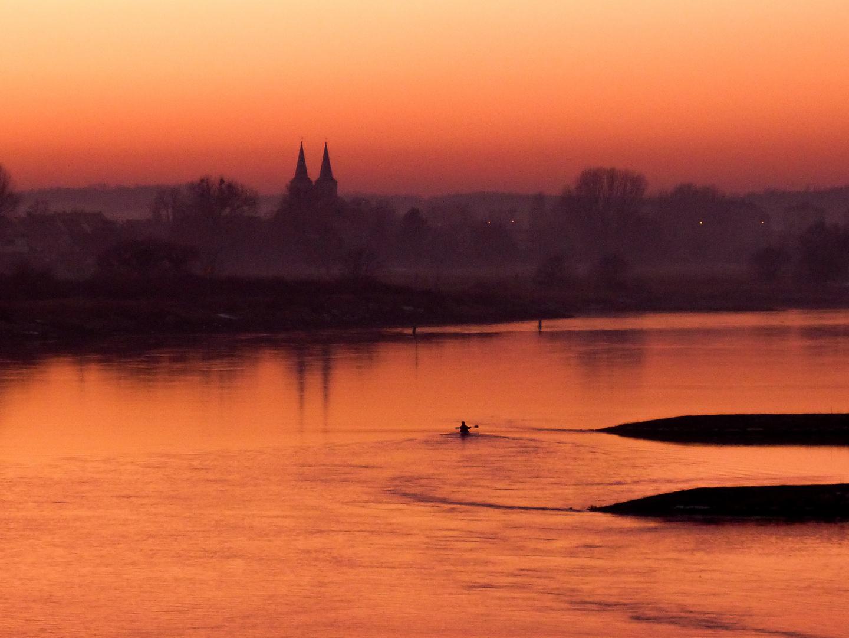 Sonnenuntergang an Elbe
