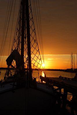 Sonnenuntergang an See