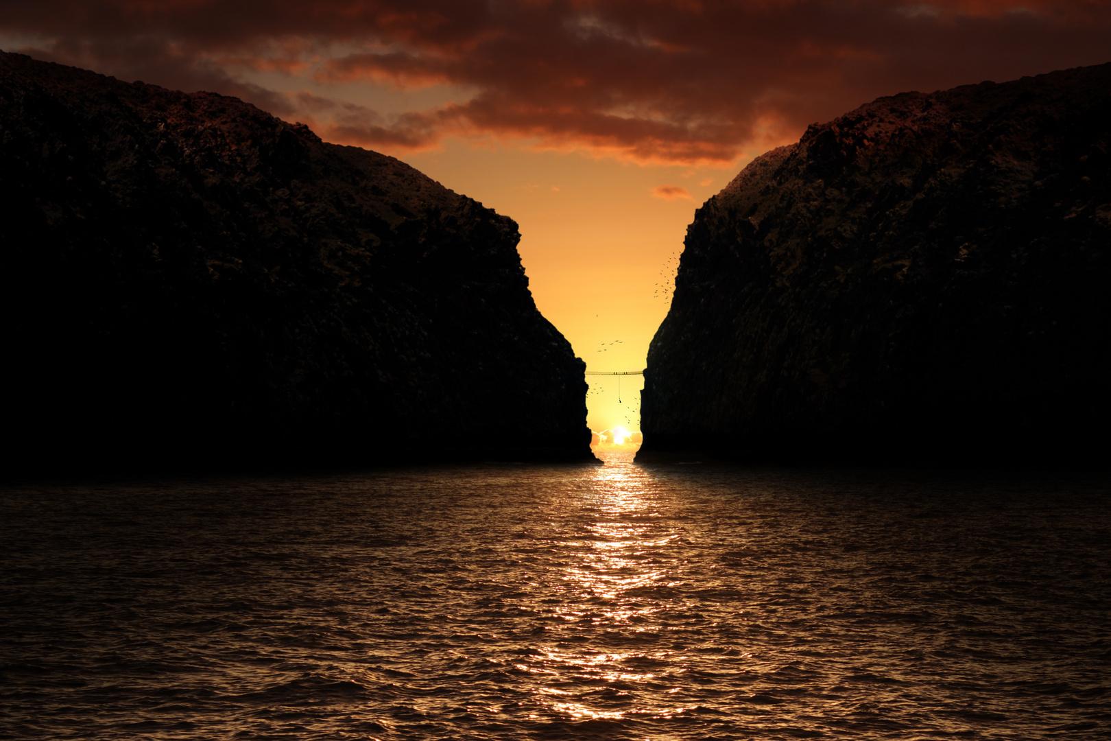 Sonnenuntergang an ungewöhnlichen Orten
