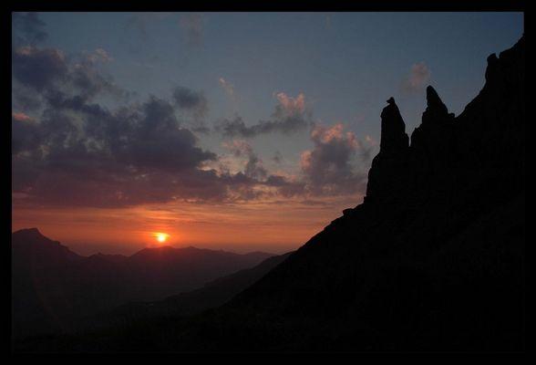 Sonnenuntergang auf 1800M.ü.m