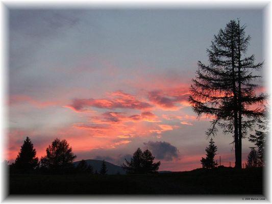 Sonnenuntergang auf 2000m