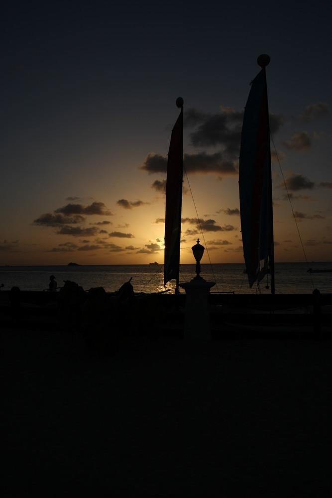 Sonnenuntergang auf Antigua