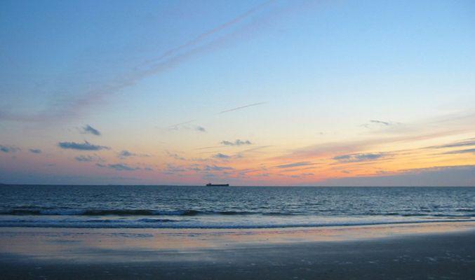 Sonnenuntergang auf Borkum an der Nordsee