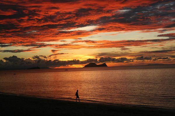 Sonnenuntergang auf Borneo / 2006 Damai Beach