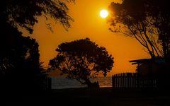 Sonnenuntergang auf Coromandel