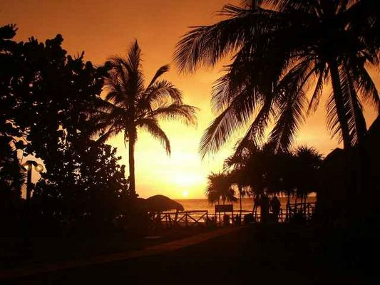Sonnenuntergang auf Cuba