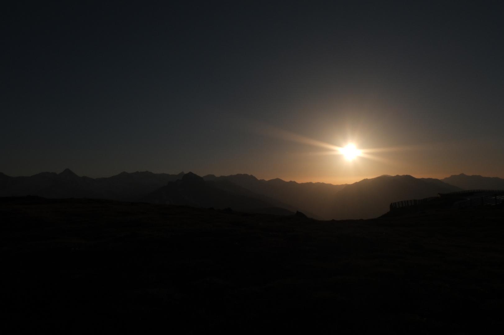 Sonnenuntergang auf dem Aineck