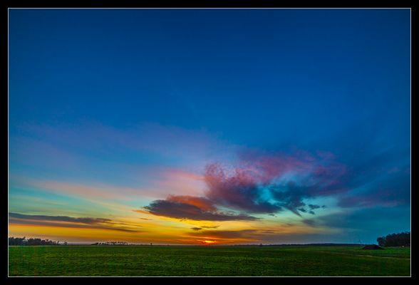 Sonnenuntergang auf dem Darß