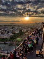 Sonnenuntergang auf dem Eiffelturm - Paris 14-02