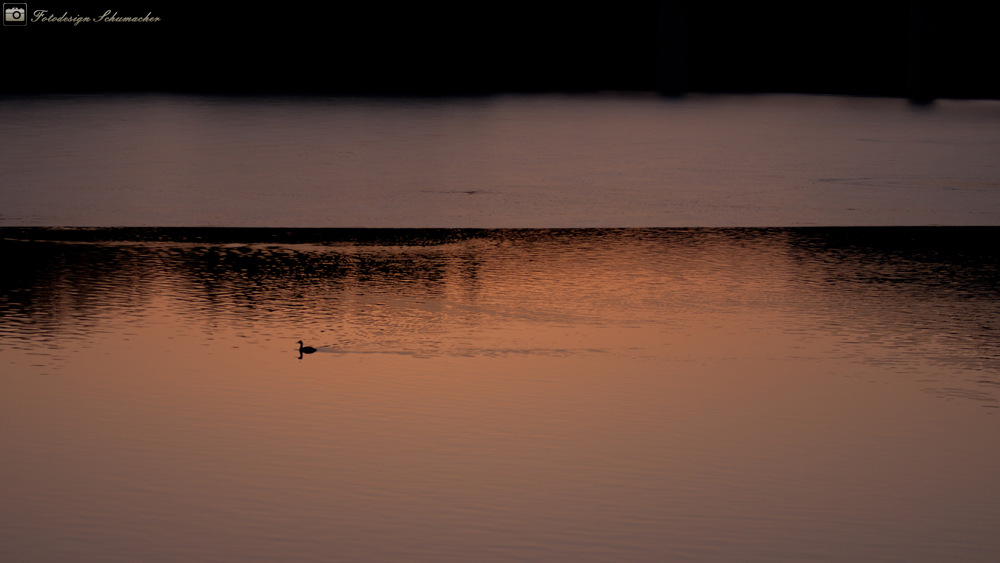 Sonnenuntergang auf dem Eis