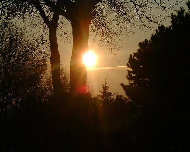 Sonnenuntergang auf dem Friedhof