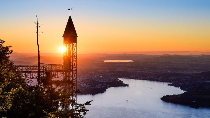 Sonnenuntergang auf dem Hammetschwand