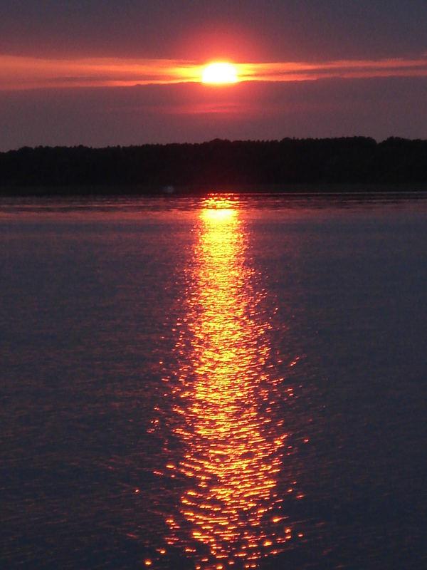 Sonnenuntergang auf dem Kölpinsee
