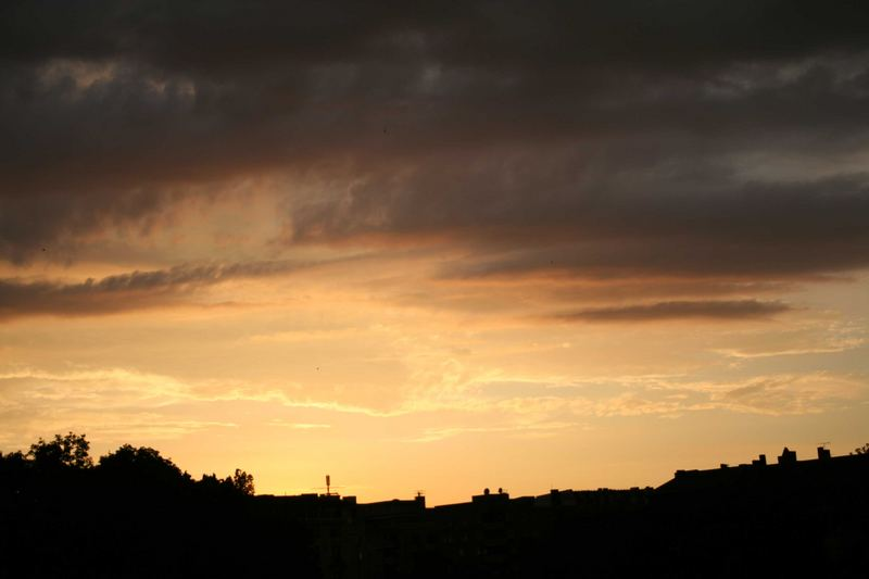 Sonnenuntergang auf dem Kreuzberg