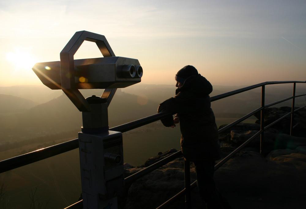 Sonnenuntergang auf dem Lilienstein