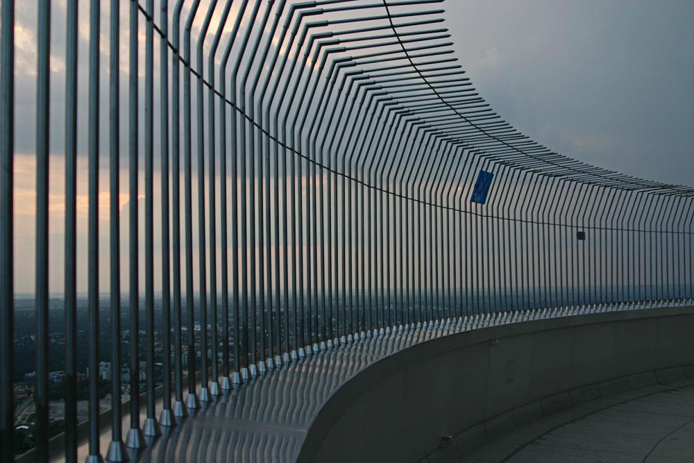 Sonnenuntergang auf dem Olympiaturm