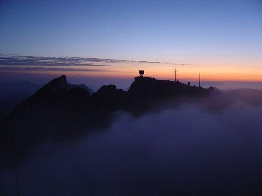 Sonnenuntergang auf dem Pilatus