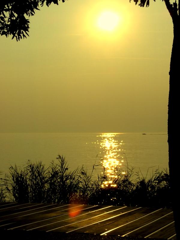 ...Sonnenuntergang auf dem Weg von Bardolino nach Cisano...