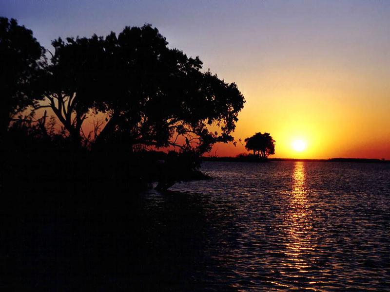 Sonnenuntergang auf dem Zambezi
