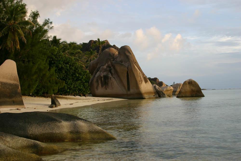 Sonnenuntergang auf den Seychellen