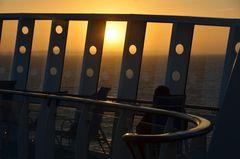 Sonnenuntergang auf der Aida Mar