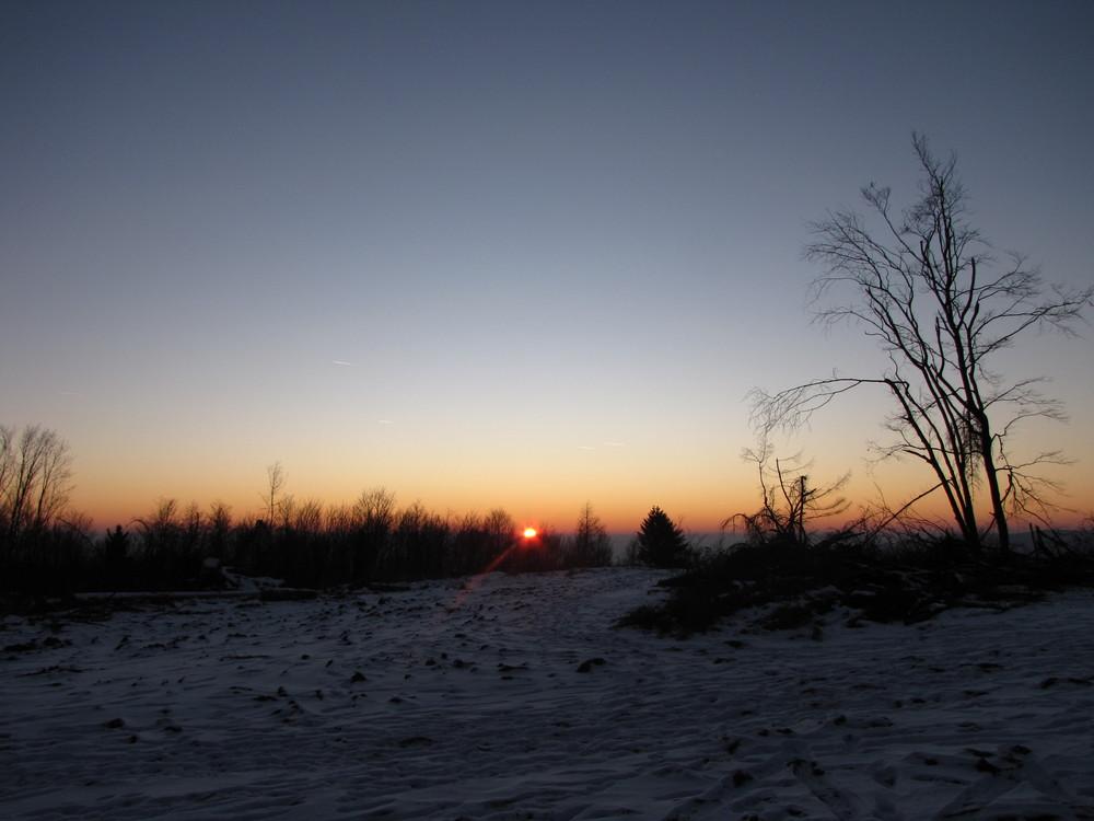 Sonnenuntergang auf der Eschenburg
