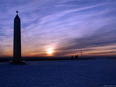 Sonnenuntergang auf der Halde Hoheward / Recklinghausen