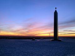 Sonnenuntergang auf der Halde Hoheward / Recklinghausen II