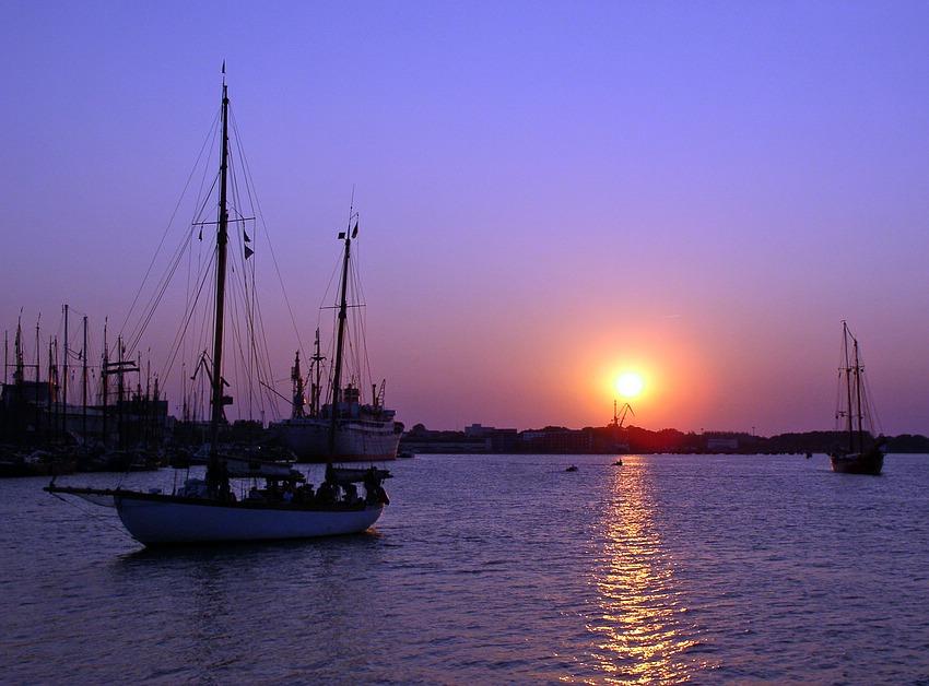 Sonnenuntergang auf der Hansesail