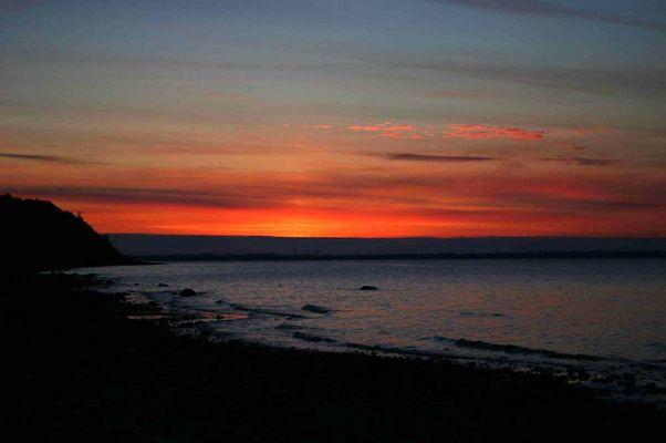 Sonnenuntergang auf der Insel Fur