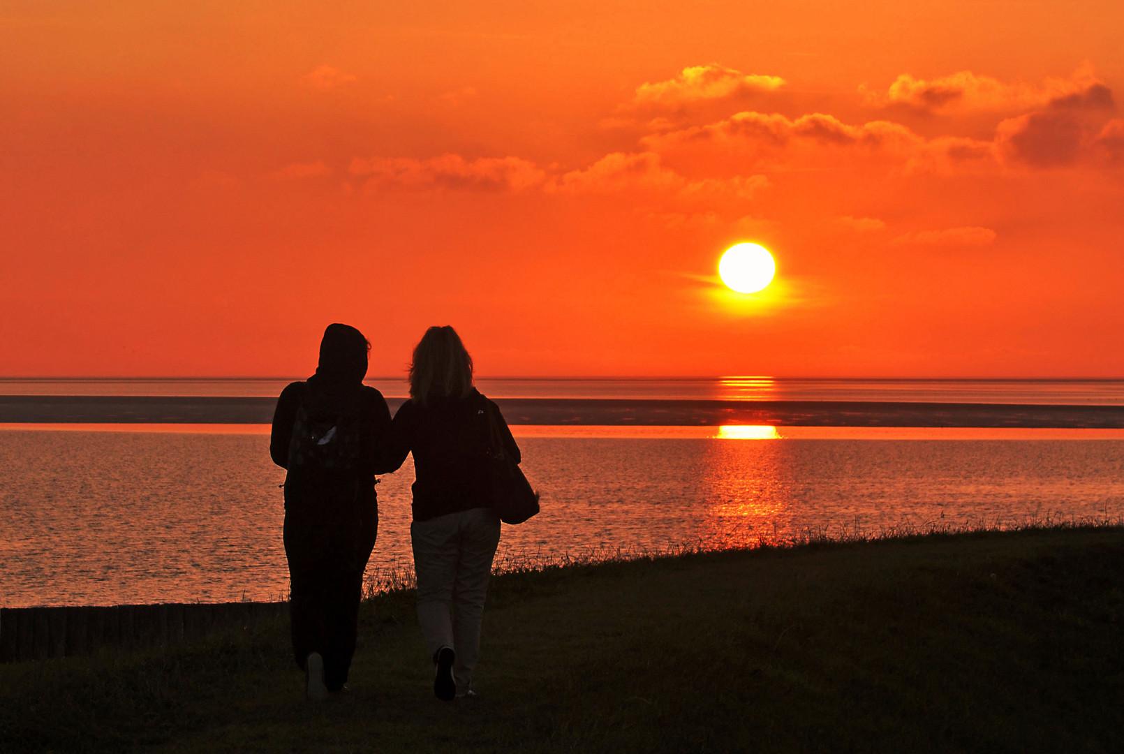 Sonnenuntergang auf der Insel Neuwerk