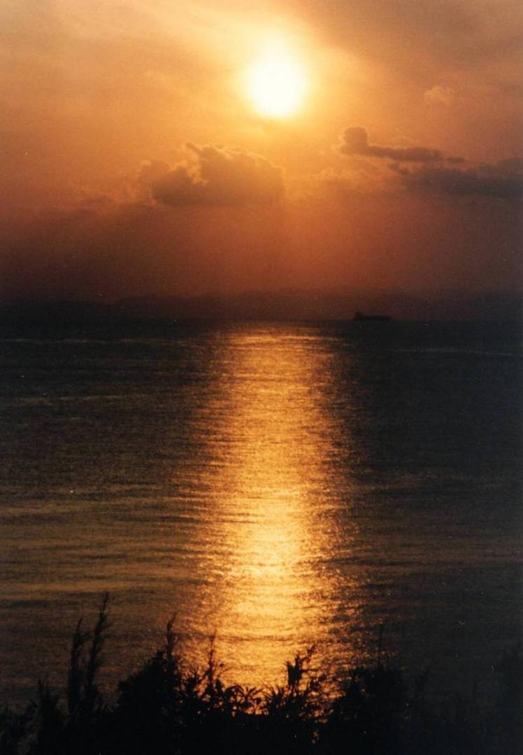 Sonnenuntergang auf der Insel Oushima