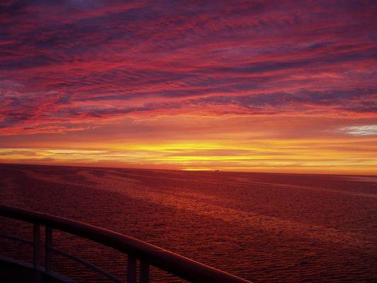 Sonnenuntergang auf der Ostsee