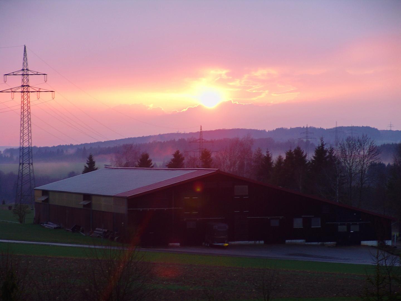 Sonnenuntergang auf der Schwäbischen Alb