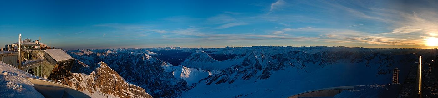 Sonnenuntergang auf der Zugspitze 2