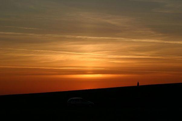 Sonnenuntergang auf einer Halde